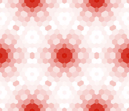 seamless mosaic. floral stained-glass window. red color. vector illustration. for design, wallpaper, interior Illustration