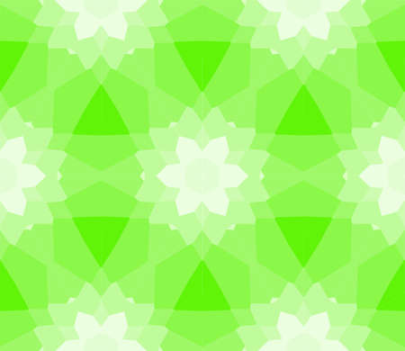 seamless mosaic. stained-glass window. green color. vector illustration. for design, wallpaper, interior Illustration
