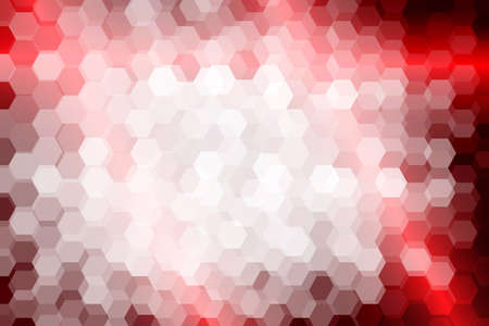 bright red color hexagon background. vector illustration. for design, presentation