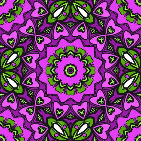 Bright color seamless art pattern. fantasy ornament. vector illustration. Illustration