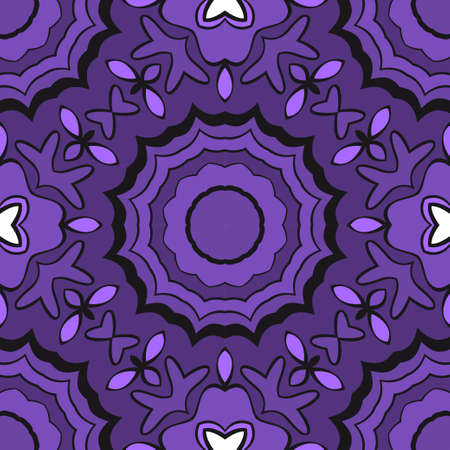 Beautiful fantasy flower ornament. seamless art-deco pattern. vector illustration. for design, wallpaper, invitation