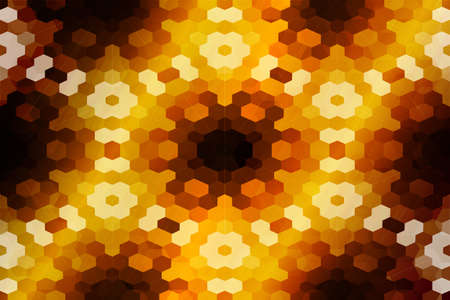 mosaic. stained-glass window. dark orange color. vector illustration. for design, wallpaper, interior
