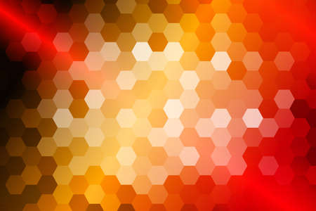 bright fire color hexagon background. vector illustration. for design, presentation