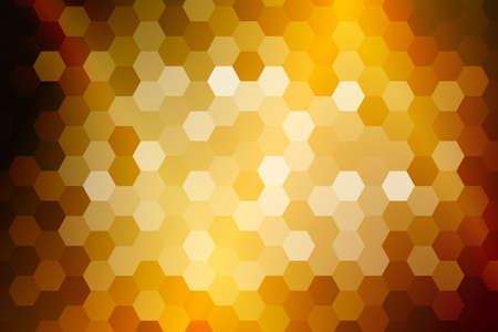 bright gold color hexagon background. vector illustration. for design, presentation Vectores