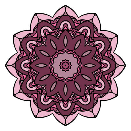 Modern floral ornament. Vector color mandala illustration, Designed for Web, Poster, Label and Other