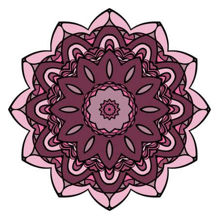 Modern floral ornament. Vector color mandala illustration, Designed for Web, Poster, Label and Other