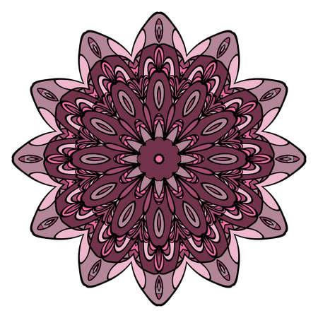 Mandala Style Vector Shapes. Decorative Cicle ornament. Floral design. Color
