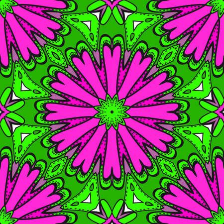Decorative floral ornament. seamless pattern. vector illustration. Tribal Ethnic Arabic, Indian, motif. for interior design, wallpaper.