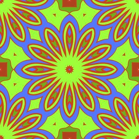 Seamless vector pattern. Geometric floral ornament. For Interior decoration, wallpaper, presentation, fashion design, print.