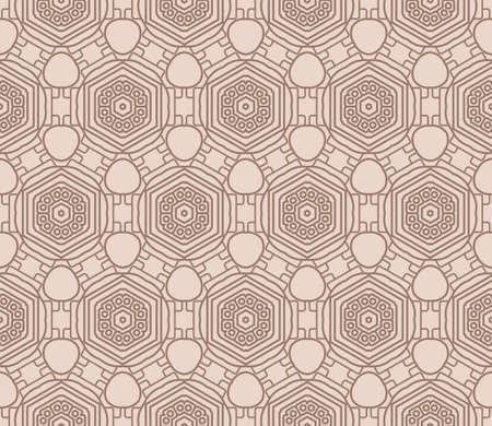 Seamless decorative geometric modern pattern. vector color illustration.
