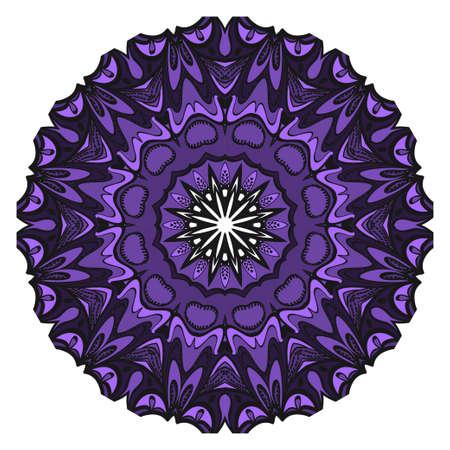 Decorative flower mandala design. Vector round pattern. Coloring. Design for greeting card, invitation, fantastic tattoo Illustration
