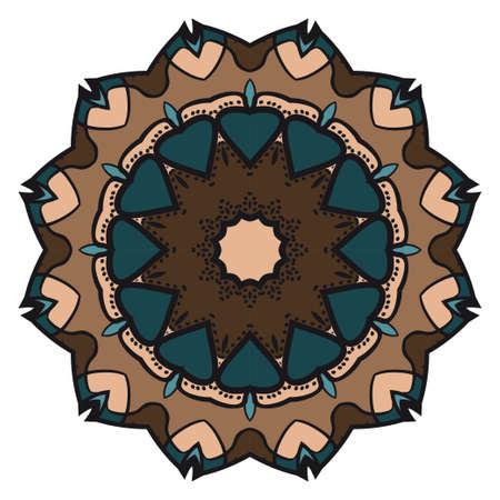 Decorative floral mandala. vector illustration. Tribal Ethnic Arabic, Indian, motif. for fashion print design, wallpaper, magic invitation Illustration