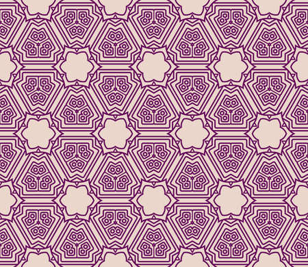 creative geometric ornament on color background. Seamless vector illustration. For interior design, wallpaper