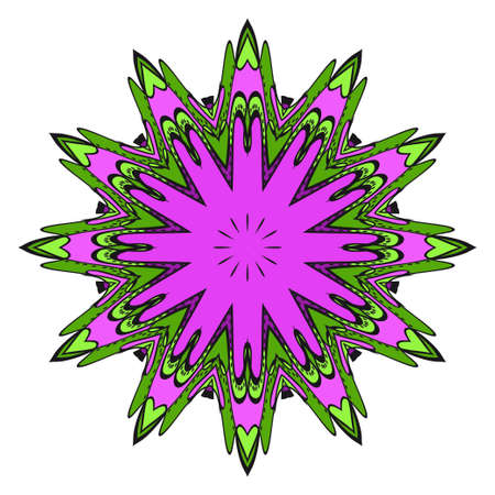 floral ornament. Vector illustration. For the interior design, printing, web and textile.
