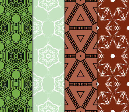 Set of seamless geometric patterns. Idea for creative design. Modern Vector illustration