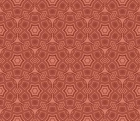 creative geometric ornament on color background. Seamless vector illustration. For interior design, wallpaper