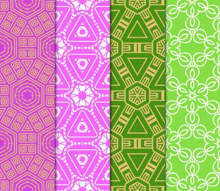 Azuro Geometric Patterns. Set. Vector illustration. Idea fod design, wallpaper, fashion, textile