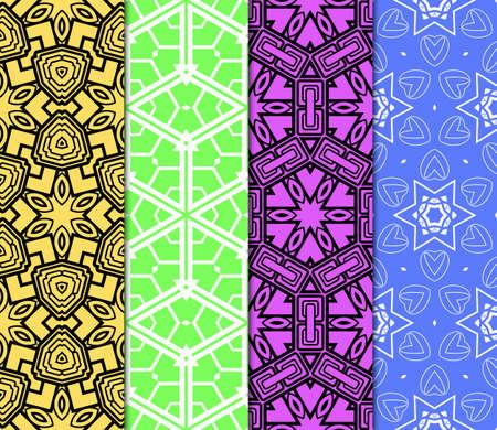 set of modern geometric pattern. vector illustration. for fashion design, interior, wallpaper, cover book, scrapbooking