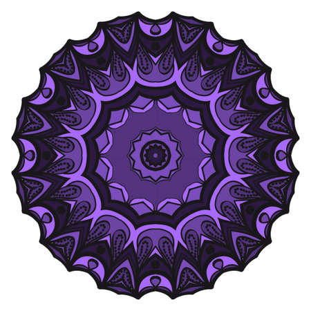 Floral Geometric Pattern with hand-drawing Mandala. Vector super illustration. For fabric, textile, bandana, scarg, print Archivio Fotografico - 102303422