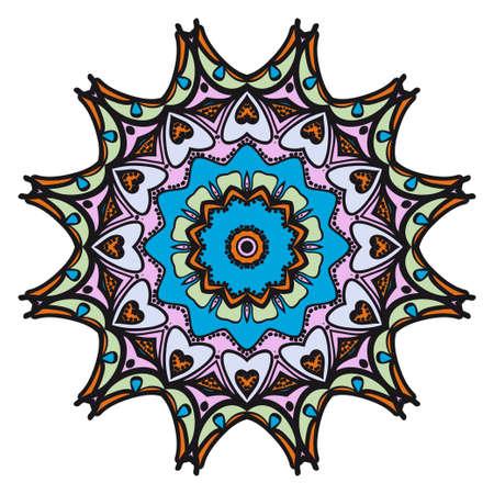 Vector mandala, Floral mandala. Oriental mandala. Vintage decorative elements. Vector illustration Illustration