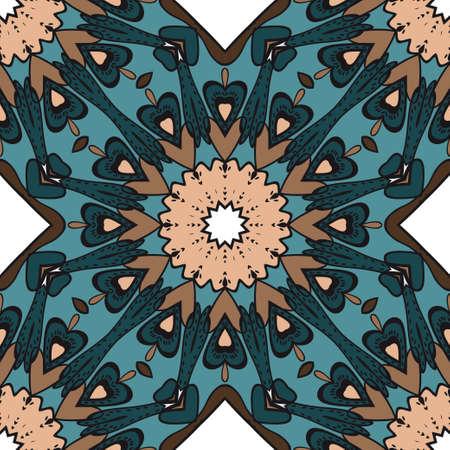Bright color seamless art pattern. fantasy ornament. vector illustration.