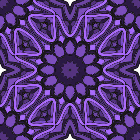 Seamless Floral pattern. Art-deco Geometric background. Modern graphic design. Vector illustration.