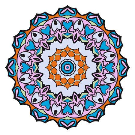 Flower mandala. Very printable decorative elements. Vector illustration for modern design