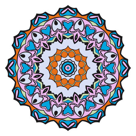 Flower mandala. Very printable decorative elements. Vector illustration for modern design