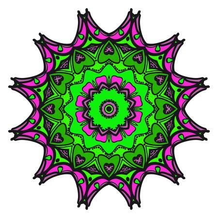 Vector mandala, Floral dream mandala. Oriental mandala. Vintage decorative elements. Vector super illustration. Ilustrace