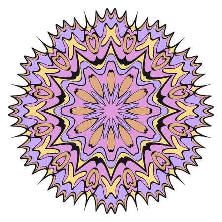 Decorative floral mandala. vector illustration. Tribal Ethnic Arabic, Indian, motif. for fashion print design, wallpaper, magic invitation Иллюстрация