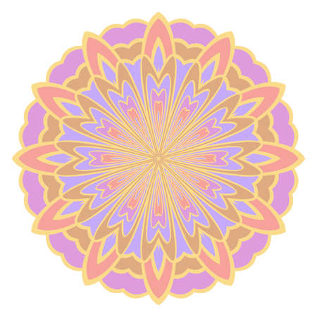 mandala. creative anti-stress floral ornament. vector color illustration Illustration