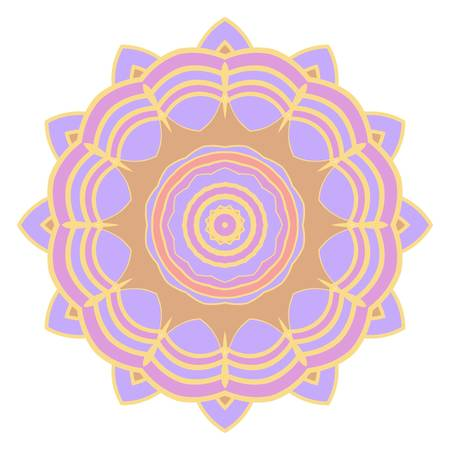 Mandala symbol isolated on white background. Indian ornament. Vector illustration Illustration