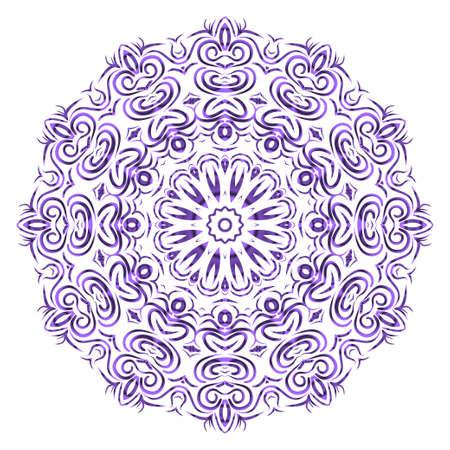 Very beautiful flower mandala. decorative vector. gold, black color. vector fantastic illustration