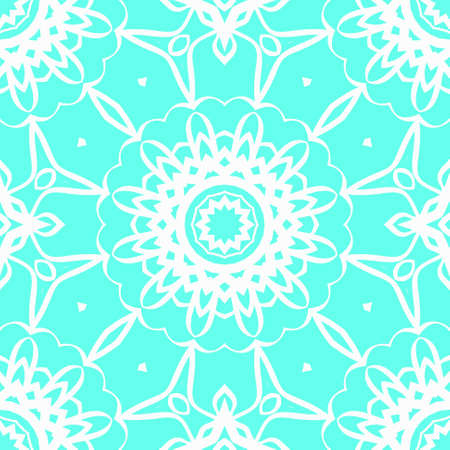 Seamless texture of floral ornament. Super vector illustration. For the interior design, printing, web and print textile.