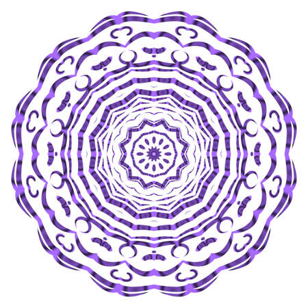 Vector hand drawn floral color mandala design. For fashion, surface design. Red, purple, gold mistic color 向量圖像