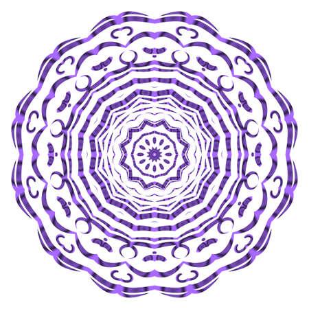 Vector hand drawn floral color mandala design. For fashion, surface design. Red, purple, gold mistic color Illusztráció