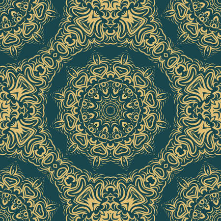 Unique, abstract floral color pattern. Seamless vector illustration. For design, wallpaper, background, fantastic print. 向量圖像