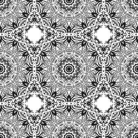pattern with geometric color elegant ornament, design for print fabric, bandana. vector illustration. red tone.