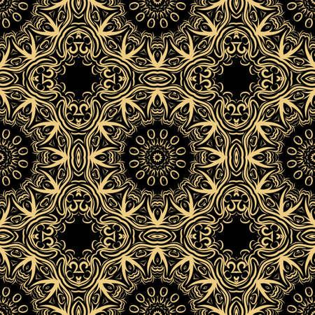 Decorative religion floral ornament. seamless pattern. vector illustration. Tribal Ethnic Arabic, Indian, motif. for interior design, wallpaper
