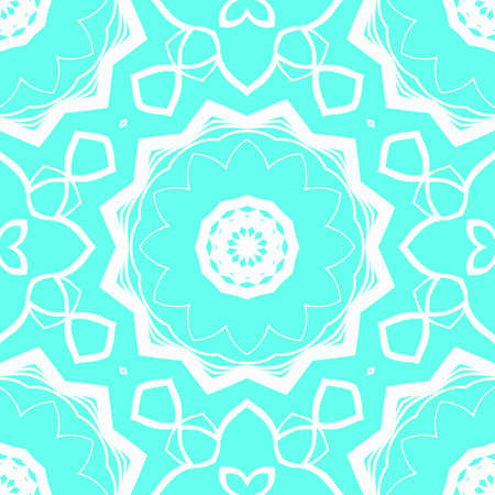 creative geometric ornament on color background. Seamless vector illustration. For interior design, colored wallpaper. Çizim