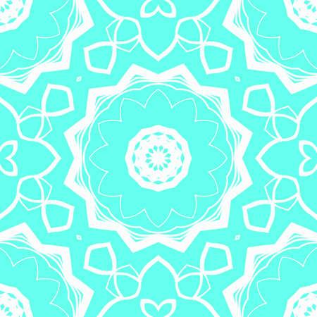 creative geometric ornament on color background. Seamless vector illustration. For interior design, colored wallpaper. Illustration