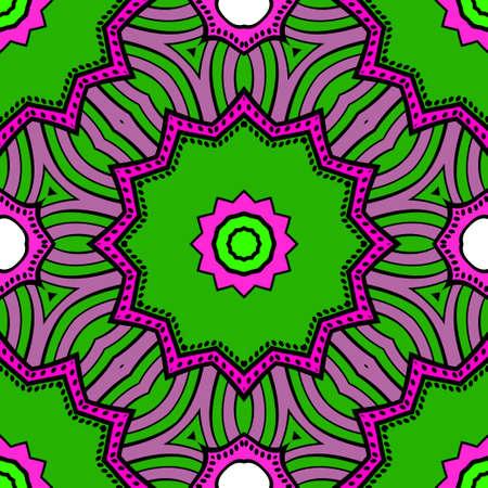 Decorative wallpaper for interior design. Modern geometric floral ornament. Seamless vector illustration Illustration
