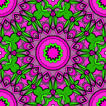geometric pattern in floral style. Ornament. Vector illustration. For modern interior design, fashion textile print, wallpaper