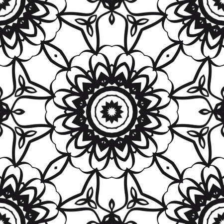 creative geometric ornament on color background. Seamless vector illustration. For interior design, colored wallpaper. 向量圖像
