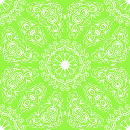 Modern floral vector ornaments. Decorative flower mandala. vector meditation illustration Illustration