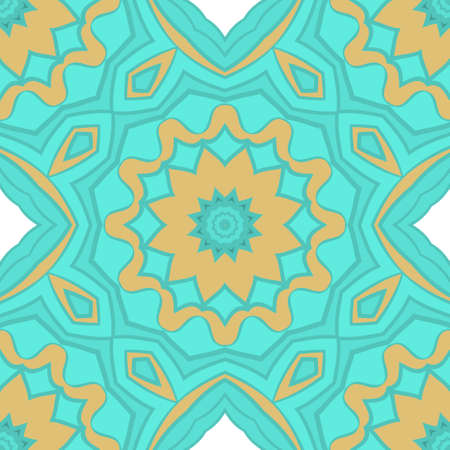 Vector Ornamental Seamless floral Pattern. Endless Texture. Geometric Ornament. For the interior design, printing, web and textile, fashion print Illustration
