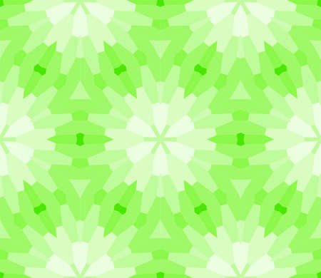 seamless mosaic. floral stained-glass window. green color. vector illustration. for design, wallpaper, interior