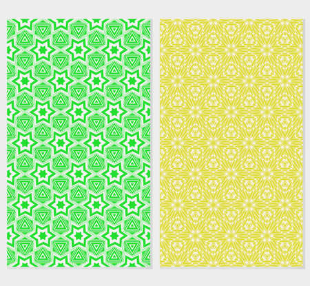 Set of original floral seamless pattern. vector illustration. for design invitation, backgrounds, wallpapers, banners, greeting cards. Ethnic arabic, turkish ornament Illustration
