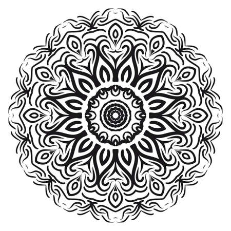 beautiful flower mandala. decorative vector. gold, black color. Super magic vector illustration Illustration