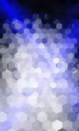 hexagon geometry pattern. blue color. vector illustration. for design flyer, banner, wallpaper